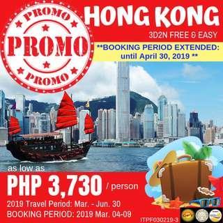 Promo: 3D2N Hong Kong Free and Easy