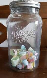 3.5L Mason glass jar