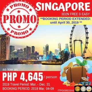Promo: 3D2N Singapore Free and Easy