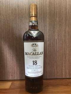 Macallan 18 yrs 2017 w/o box