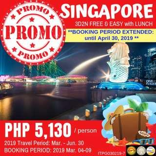 Promo: 3D2N Singapore Free and Easy with Lunch