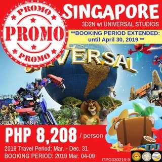 Promo: 3D2N Singapore with Universal Studios
