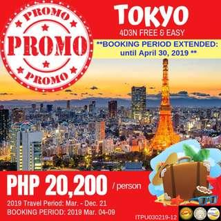 Promo: 4D3N Tokyo Free and Easy
