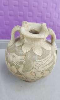 耀州窑花口瓶