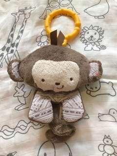 fisher price monkey baby toys BB 搖鈴玩具 嬰幼兒