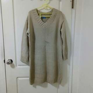 🚚 保暖針織毛衣連身裙 毛衣洋裝 長版毛衣