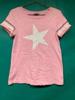 Gap 大童 粉色星星上衣
