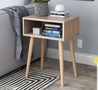 Scandinavian Wood Bedside Table