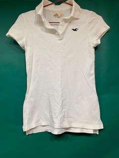 🚚 Hollister 白 polo衫