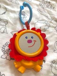 fisher price lion baby mirror toy BB 獅子安全鏡玩具
