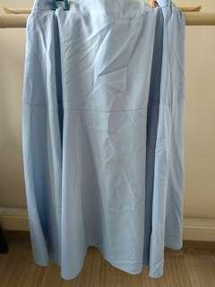 Ankle Long Sky Blue skirt