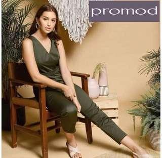 BNWT Promod Olive Green Jumpsuit with belt