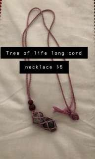 Tree of Life Cord Necklace