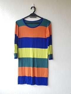 Stripe Knit Top (L)