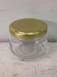 4oz GLASS JAR w/ GOLD LID