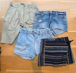 Shorts, Jeans and Skirts