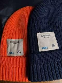 🚚 換季特賣 MADS 18AW  LIGHT BEANIE 毛線帽 毛帽 余文樂 橘紅色 深藍 白標