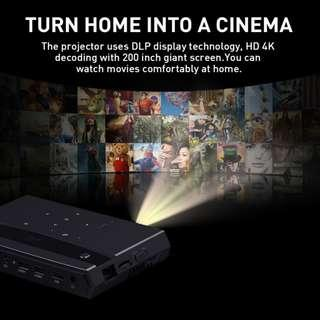 H96 Max Micro 4 K Projector Home Theater with Voice Control