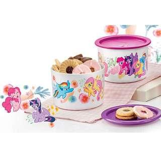 Tupperware limited Edition Pony One Touch 2x 600ml