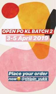 OPEN PO KL 3-5 APRIL