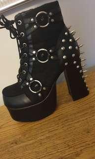 Demonia Charade Spiked Platform Boots