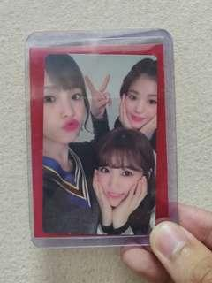 IZ*ONE COLOR*IZ YENA WONYOUNG NAKO UNIT PHOTOCARD