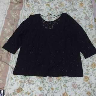 Black Top Brokat