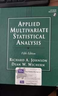 Textbook: Applied Multivariate Statistical Analysis