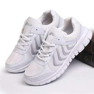 Unisex Breathable Lightweight White Casual Sneakers