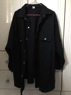 黑色長裇衫 外套 Black shirt