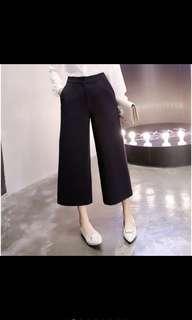 High waist black seven wide leg pants