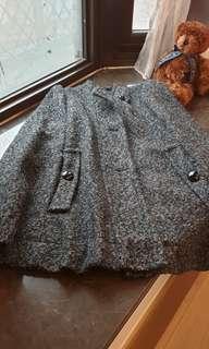 🚚 Mastina 黑色毛呢 斗篷大衣外套