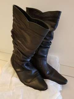 OFFER: Leather Calf-High Boots