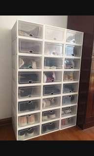 鞋盒 白色 透明 自由組裝 收藏 雜物盒 安裝 清洗 簡單 整齊 整潔 #flashthurs