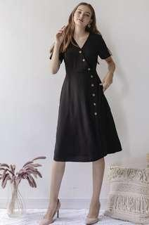 Mag Sleeved Button Dress