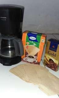 Alat mesin kopi + kertas penyaringan yaa asli dri jerman