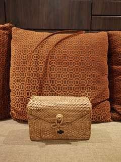 🚚 Woven Rattan Bag - rectangular