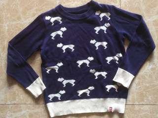 Sweater dog navy