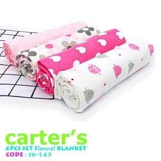 4pc Flannel Baby Blanket (FB140 - FB149)