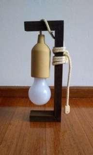 Typo hanging lightbulb