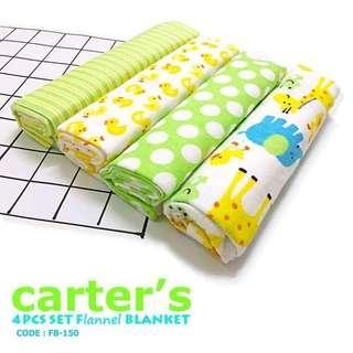 4pc Flannel Baby Blanket (FB150 - FB159)