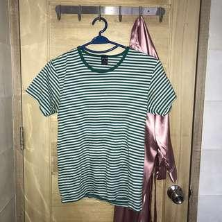 Green stripes shirt