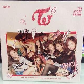 Twice 專輯 親簽 1st mini album The Story Begins