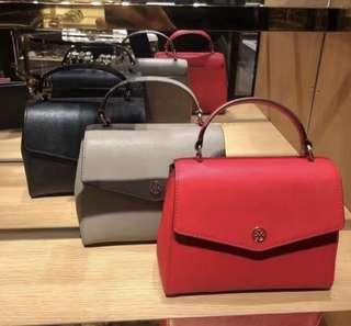 Authentic Tory Burch Robinson small top handle Satchel handbag
