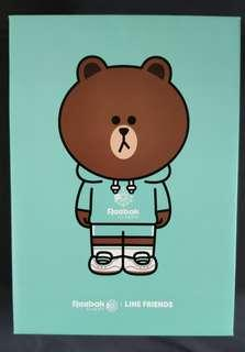 Reebok x line friends 綠色熊大Brown 麂皮波鞋