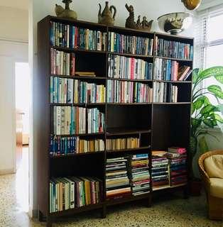 IKEA walnut bookshelf large