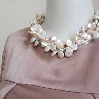 Nannie Coll Pearl White Necklace