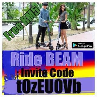 Beam EScooter Sharing Invite Code