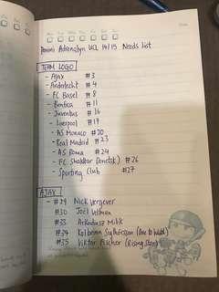 🚚 14/15 UCL adrenalyn needs list
