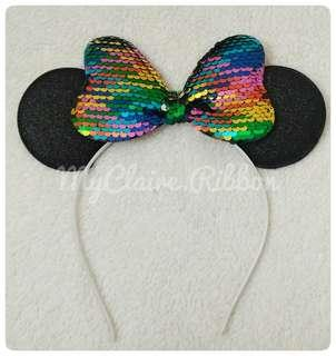 Bando anak minnie mouse rainbow